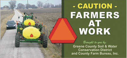Local news billboards will help promote farm equipment safety 4 contributed photo safety first the greene county farm bureau inc and the greene county soil and water conservation district have partnered to sponsor two sciox Image collections