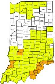 Local News: Indiana Travel Status Map early Saay: Greene ... on greene county arkansas township map, sullivan county new york state map, clark county illinois plat map, indiana road construction map, indiana dunes national park map, indiana travel advisory, indiana weather alert map, unincorporated clark county nv map, status in county map, tippecanoe county plot map, randolph county missouri township map, clark county wi map, indiana interstate 65 mile markers map, indiana cities map, indiana department of homeland security map, indiana travel warnings, indiana highway map printable, indiana county snow emergency status, current indiana weather map, indiana county maps with roads,